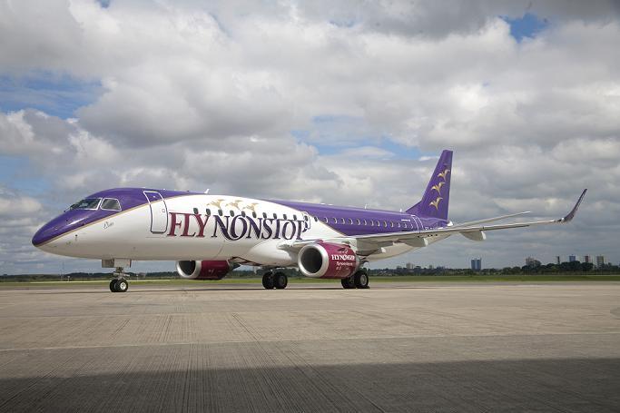 Avion embraer entrega a flynonstop