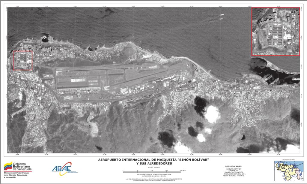 imagen satelital aeropuerto de maiqueita