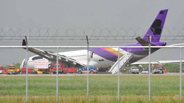 Thai Airways plane on Bangkok runway