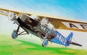 Fokker F8 tekening 15cm