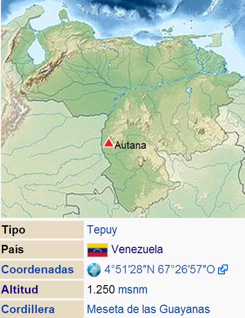 Autana ubicacion geografica