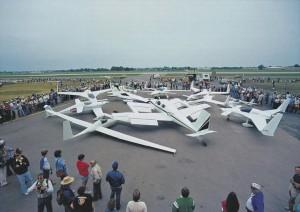 Aviones Rutan reunidos en AirVenture