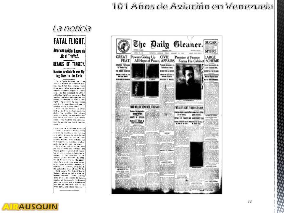 101 Años Aviación en Venezuela - Alejandro Irausquín, Ing. Aeronautico Ene2014 p88