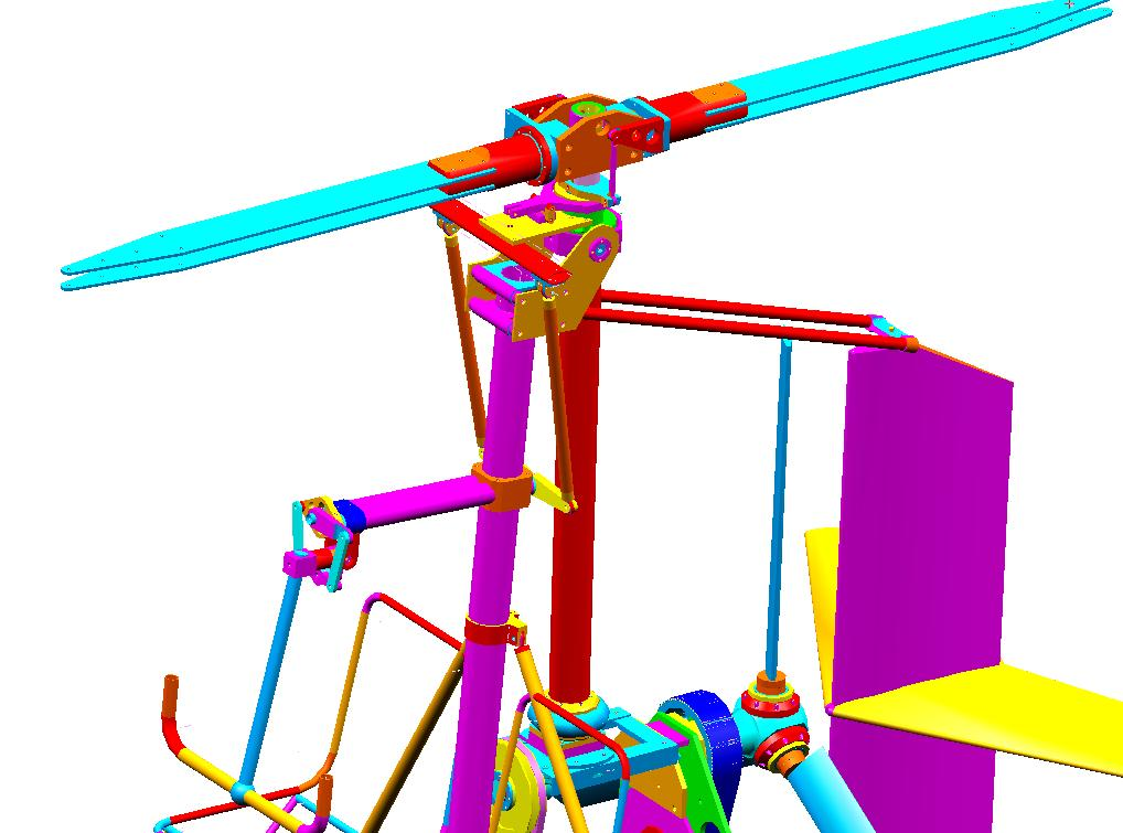 Diseño de autogiro con control de paso colectivo, de René Brun.