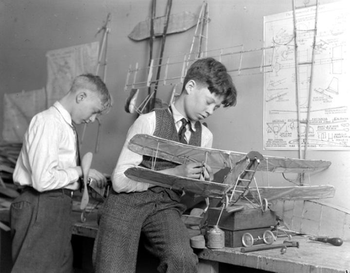 Louis W. Hines, 'Two Boys with Model Airplanes,' (n.d.), George Eastman House, Syracuse, New York