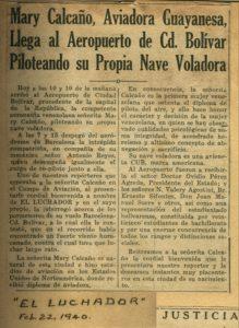 MariaCalcañoEnCiudadBolivarElLuchador