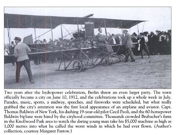 Peoli taxis the Red Devil in Berlin, Ontario July 1912 clip