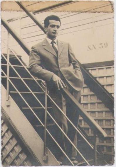 Romano Remiddi en su llegada al Puerto de La Guaira [Archivo fotográfico de la familia Remiddi González].