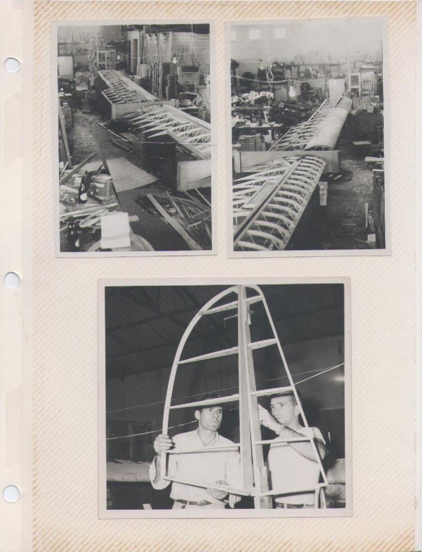 Fabricación del Turpial (R1) en las instalaciones de la fábrica de calzado del Sr. Bonaroch [Archivo fotográfico de la familia Remiddi González].