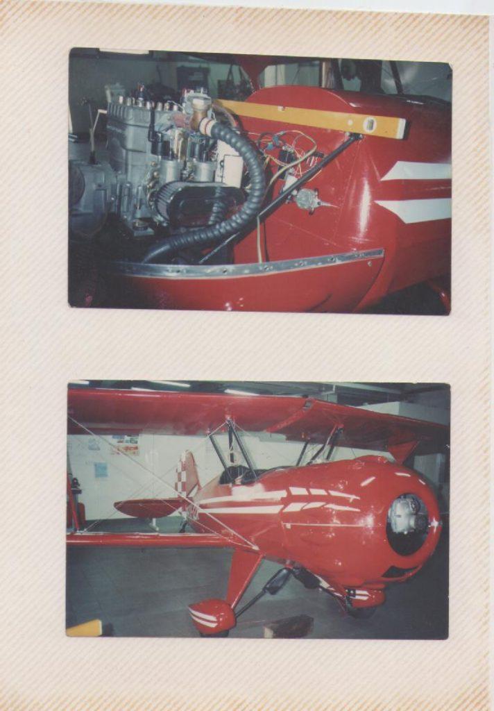 """Biplano Murpy Renegade """"Sueños"""" YV-12X de Aerodesarrollos Cimaut al final de su construcción, en las instalaciones de la empresa en Santa Teresa del Tuy. [Archivo fotográfico de la familia Remiddi González]."""