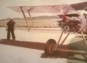 Hanriot HD1-ET, durante una corrida de prueba de motor.