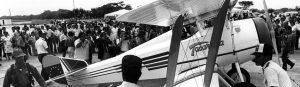 Tacarigua. Primer avion militar construido en venezuela. Aniversario 2013. Caracas, 17-04-1986 (TOM GRILLO / ARCHIVO EL NACIONAL)