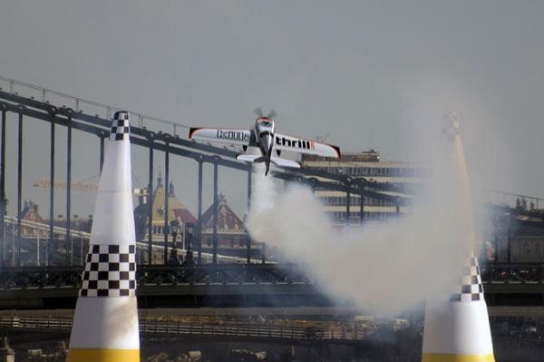 Avión de James Anderson, simulado en una competencia Redbull Air Race