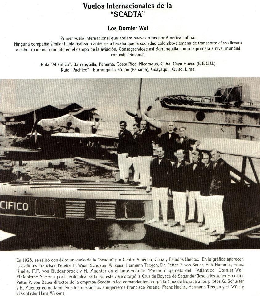 Vuelo Dornier Val _Pacifico_ 1 - Libro Imagen temporal Barranquilla Siglo XX