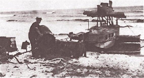 hidroavión Dornier Wal 'Pacífico' de la Scadta, varado el 18 de Marzo de 1927 en Paraguana cuando le falló una de las hélices en un vuelo de Curaçao a Barranquilla 1