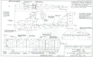 Dibujo de 3 vistas y de detalles del Curtiss-Wright CW-1 Junior. Pag 3 de 3.