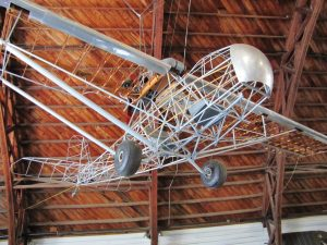 Estructura del Curtiss-Wright CW-1 Junior, incluyendo los larguerillos del fuselaje.
