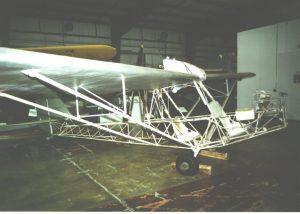 Estructura del Curtiss-Wright CW-1 Junior, sin los larguerillos del fuselaje.