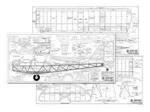 Curtiss-Wright CW-1 Junior a escala para construcción en madera Balsa. Para descargar, haga clic en la imagen.