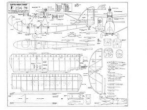 Curtiss-Wright CW-1 Junior a escala para construcción en madera Balsa. Modelo 2. Para descargar, haga clic en la imagen.
