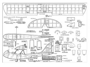 Curtiss-Wright CW-1 Junior a escala para construcción en madera Balsa. Modelo 3. Para descargar, haga clic en la imagen.