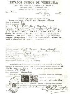 GuillermoTamayoCertificadoDeMatriculaCaudronAiglonYV-GTR