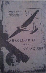Abecedario de La Aviación, escrito por Marcos Sarcos, e impreso por la Tipografía 'El País'. Fuente David Iriarte.