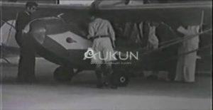 Curtiss-Wright CW-1 Junior en el Hangar de los hidroaviones, Boca de Rio, Edo. Aragua, @1940.