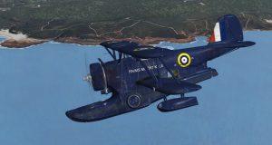 """Modelo de simulador del hidroavión Grumman J2F-6 Duck, de la película """"Murphy's War""""."""