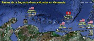 Mapa de restos de la SGM en Venezuela, publicado por Dario Silva en 2009.