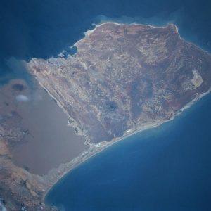 Peninsula de Paraguaná, Edo. Falcón, Venezuela, vista desde el espacio.