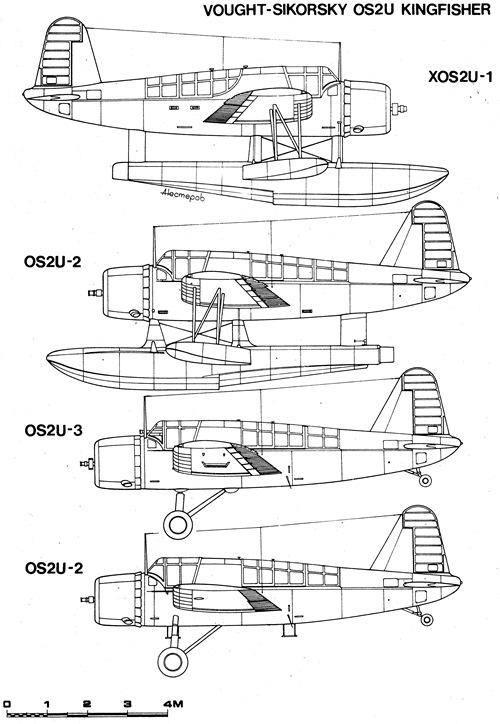 Variantes del Vought-Sikorsky OS2U Kingfisher.