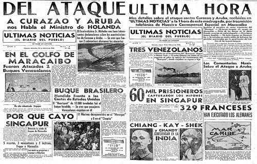 Titulares con la noticia de ataques a buques mercantes y petroleros venezolanos.