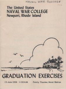 Comandante Lloyd C Morse, Naval War College, 1956.