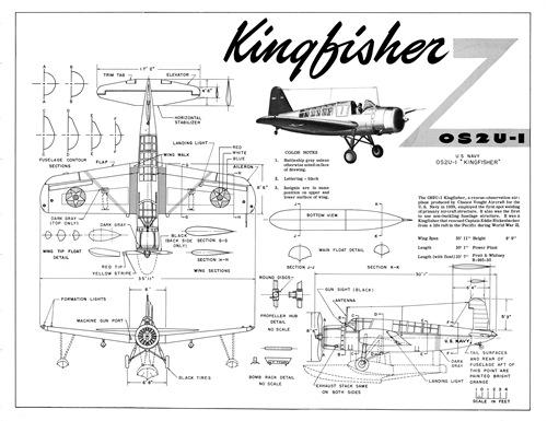 OS2U Kingfisher, dimensiones generales.