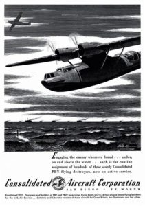 "Anuncio en la revista ""Flying"", Feb 1942."