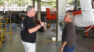 Jejesús conversando con Francisco Pacheco, 2013.
