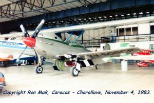 BuNo48446.1983-1104.YV-209CP PBY-5A junto al YV-508CP ambos de Mustang Peter Bottome. Charallave. Foto de Ron Mak, 4 Nov 1983