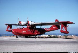 BuNo02963. N322FA. PBY5-A Avalon - Pebbly Beach Seaplane (L11), CA, USA. Foto Stephen Tornblom, 31Mayo1997