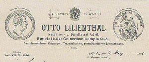 Membrete de la Maschinenfabrik Otto Lilienthal.