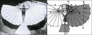 """Imagen que compara la similitud del """"Número 21"""" de Gustav Weisskopf, con el planeador patentado de Lilienthal."""